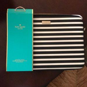 Kate Spade striped iPad Pro sleeve